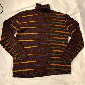 Holt Renfrew Italy wool sweater stripes colorful